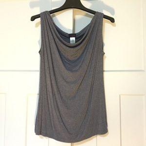 Grey-Blue Scoop Neck Dress Tanktop